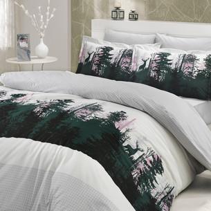 Постельное белье Hobby Home Collection TIERRA хлопковый поплин серый 2-х спальный