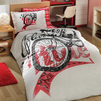 Комплект постельного белья Hobby Home Collection TRELLA хлопковый поплин (красный)