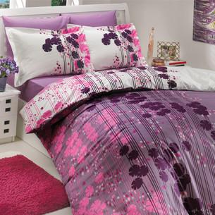Постельное белье Hobby Home Collection VENTURA хлопковый поплин лиловый 1,5 спальный