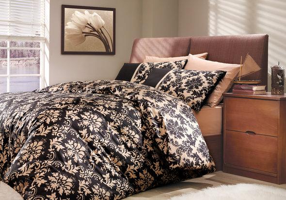 Комплект постельного белья Hobby Home Collection AVANGARDE хлопковый поплин (чёрный) 2-х спальный, фото, фотография
