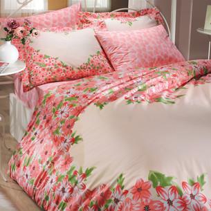 Постельное белье Hobby Home Collection ESPERANZA хлопковый поплин красный 2-х спальный