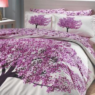 Постельное белье Hobby Home Collection FLORENTINA хлопковый поплин фиолетовый 2-х спальный