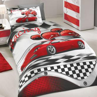 Комплект детского постельного белья Hobby X-RACING поплин красный