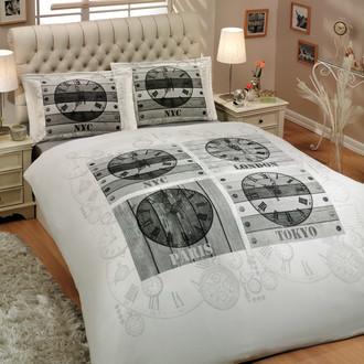 Комплект постельного белья Hobby WORLD CLOCK поплин
