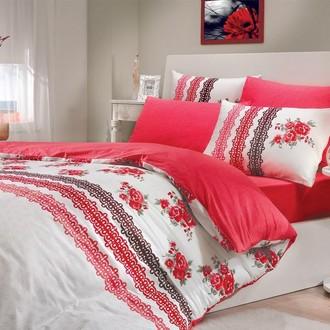 Комплект постельного белья Hobby CAMILA ранфорс красный