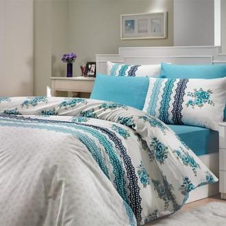 Комплект постельного белья Hobby CAMILA ранфорс синий