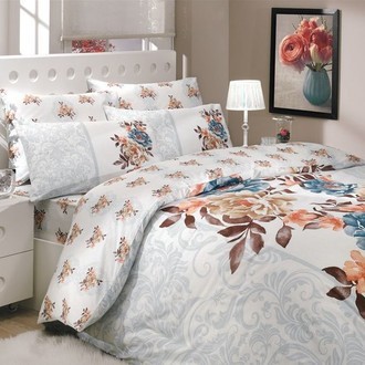 Комплект постельного белья Hobby DELICA ранфорс синий