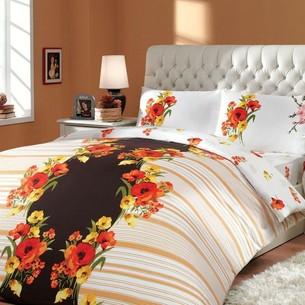 Постельное белье Hobby Home Collection DREAM хлопковый ранфорс коричневый 2-х спальный