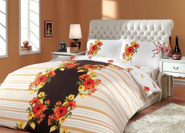 Постельное белье Hobby Home Collection DREAM хлопковый ранфорс (коричневый) 2-х спальный, фото, фотография