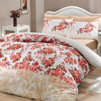 Комплект постельного белья Hobby FELICITA ранфорс розовый