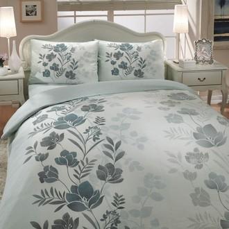 Комплект постельного белья Hobby FLORE ранфорс зелёный