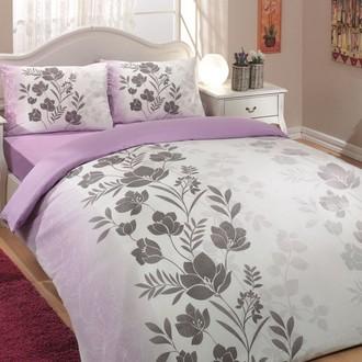 Комплект постельного белья Hobby FLORE ранфорс лиловый