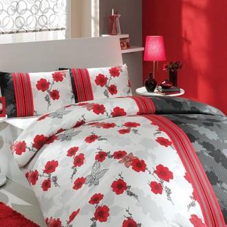 Комплект постельного белья Hobby LIANA ранфорс красный