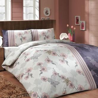 Комплект постельного белья Hobby LIANA ранфорс фиолетовый