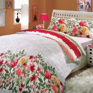 Постельное белье Hobby Home Collection LILIAN хлопковый ранфорс красный 2-х спальный
