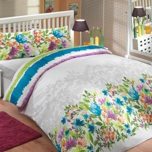 Постельное белье Hobby Home Collection LILIAN хлопковый ранфорс синий 2-х спальный