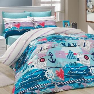 Комплект постельного белья Hobby MARINE ранфорс бирюзовый