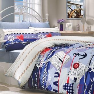 Комплект постельного белья Hobby MARINE ранфорс синий