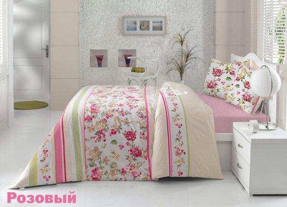 Комплект постельного белья Altinbasak CREAFORCE MELISA розовый евро 70*70(2), фото, фотография