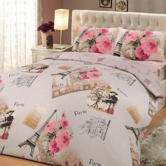 Постельное белье Hobby Home Collection PARIS хлопковый ранфорс розовый