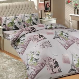 Постельное белье Hobby Home Collection PARIS хлопковый ранфорс серый 1,5 спальный