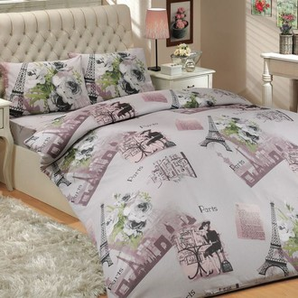Комплект постельного белья Hobby PARIS ранфорс серый