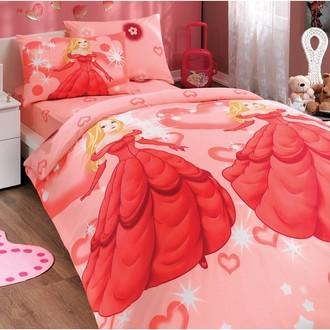 Комплект постельного белья Hobby PRENSES ранфорс красный