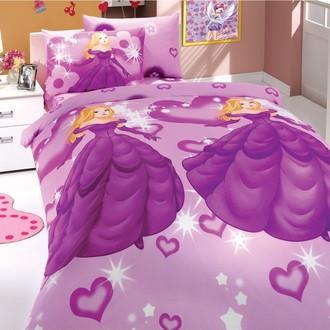 Комплект постельного белья Hobby PRENSES ранфорс лиловый