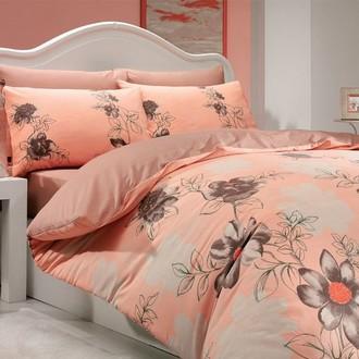 Постельное белье Hobby Home Collection SOFIA хлопковый ранфорс персиковый
