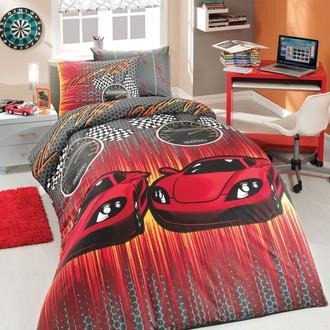 Комплект постельного белья Hobby SPEED ранфорс красный
