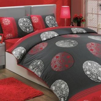 Комплект постельного белья Hobby VALENTINA ранфорс красный