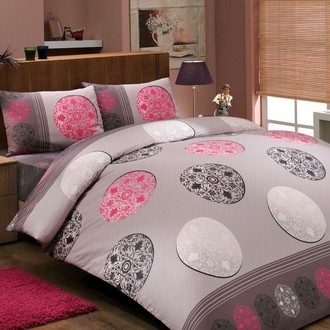 Комплект постельного белья Hobby VALENTINA ранфорс розовый
