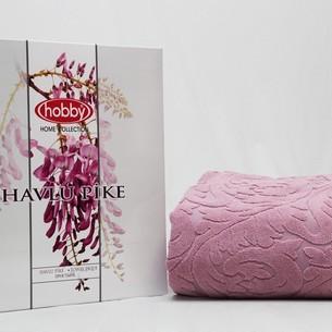 Махровая простынь-покрывало для укрывания Hobby Home Collection SULTAN хлопок розовый 160х200