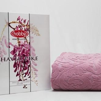 Махровая простынь-покрывало для укрывания Hobby Home Collection SULTAN хлопок розовый