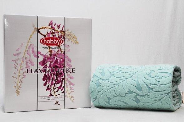 Махровая простынь-покрывало для укрывания Hobby Home Collection SULTAN хлопок (мятный) 160*200, фото, фотография