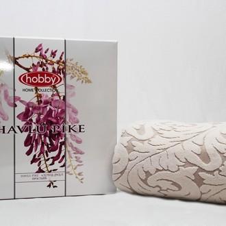 Махровая простынь-покрывало для укрывания Hobby Home Collection SULTAN хлопок (кремовый)