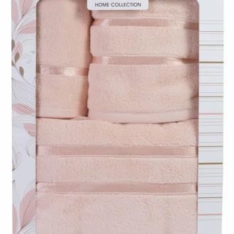 Подарочный набор полотенец для ванной Hobby Home Collection DOLCE хлопковый микрокоттон 3 пр. (персиковый)