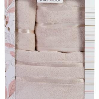 Подарочный набор полотенец для ванной Hobby Home Collection DOLCE хлопковый микрокоттон 3 пр. (светло-жёлтый)