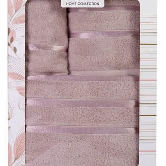 Подарочный набор полотенец для ванной Hobby Home Collection DOLCE хлопковый микрокоттон 3 пр. (светло-лиловый)
