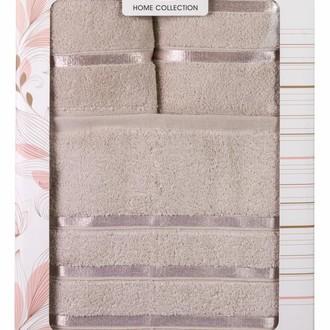 Подарочный набор полотенец для ванной Hobby Home Collection DOLCE хлопковый микрокоттон 3 пр. (коричневый)