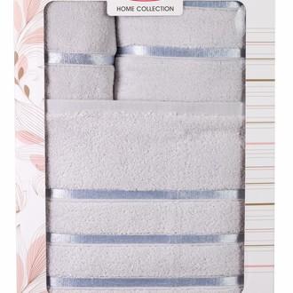 Подарочный набор полотенец для ванной Hobby Home Collection DOLCE хлопковый микрокоттон 3 пр. (светло-голубой)