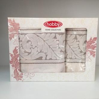 Набор полотенец для ванной в подарочной упаковке 50х90, 70х140 Hobby Home Collection SULTAN хлопковая махра кремовый