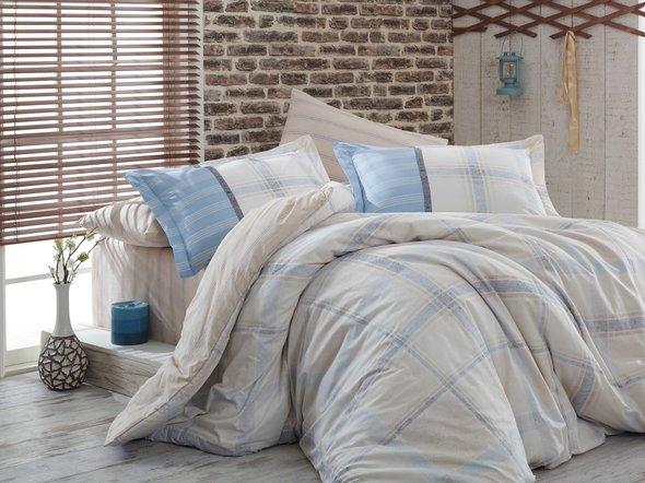 Постельное белье Hobby Home Collection CARMELA хлопковый поплин бежевый 1,5 спальный, фото, фотография