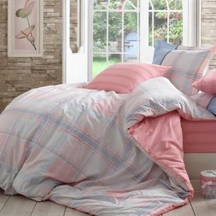 Постельное белье Hobby Home Collection CARMELA хлопковый поплин розовый евро