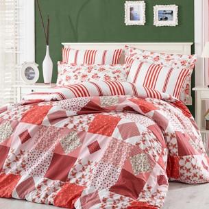Постельное белье Hobby Home Collection CLARA хлопковый поплин красный 2-х спальный