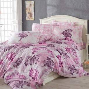 Постельное белье Hobby Home Collection ELVIRA хлопковый поплин лиловый 2-х спальный