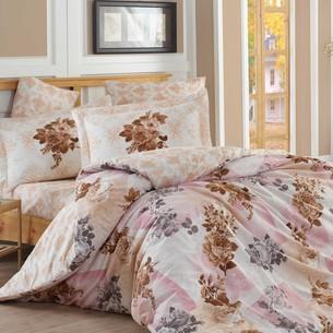 Постельное белье Hobby Home Collection ELVIRA хлопковый поплин светло-розовый семейный