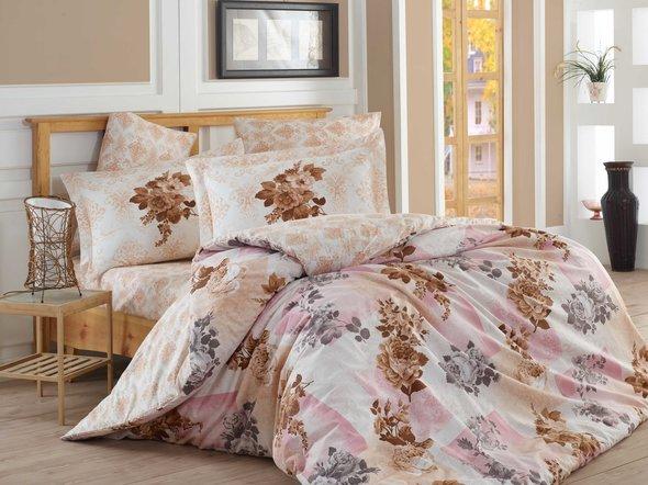 Комплект постельного белья Hobby ELVIRA поплин хлопок (светло-розовый) семейный, фото, фотография