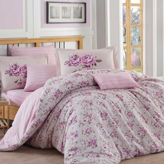 Комплект постельного белья Hobby FLORA поплин лиловый