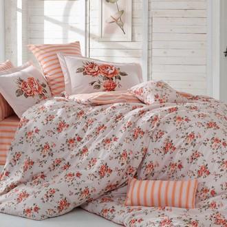 Комплект постельного белья Hobby FLORA поплин персиковый